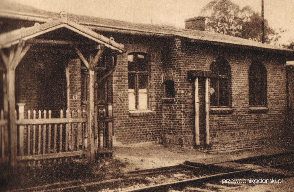 Dworzec w Gdyni, koniec XIX wieku