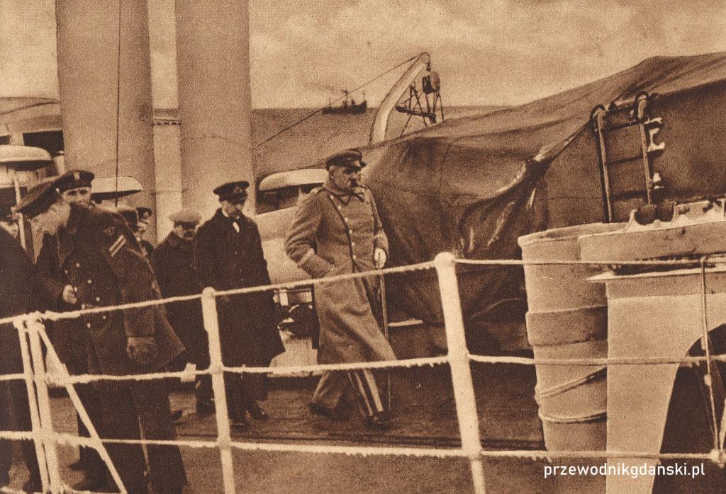 Józef Piłsudski w Gdyni