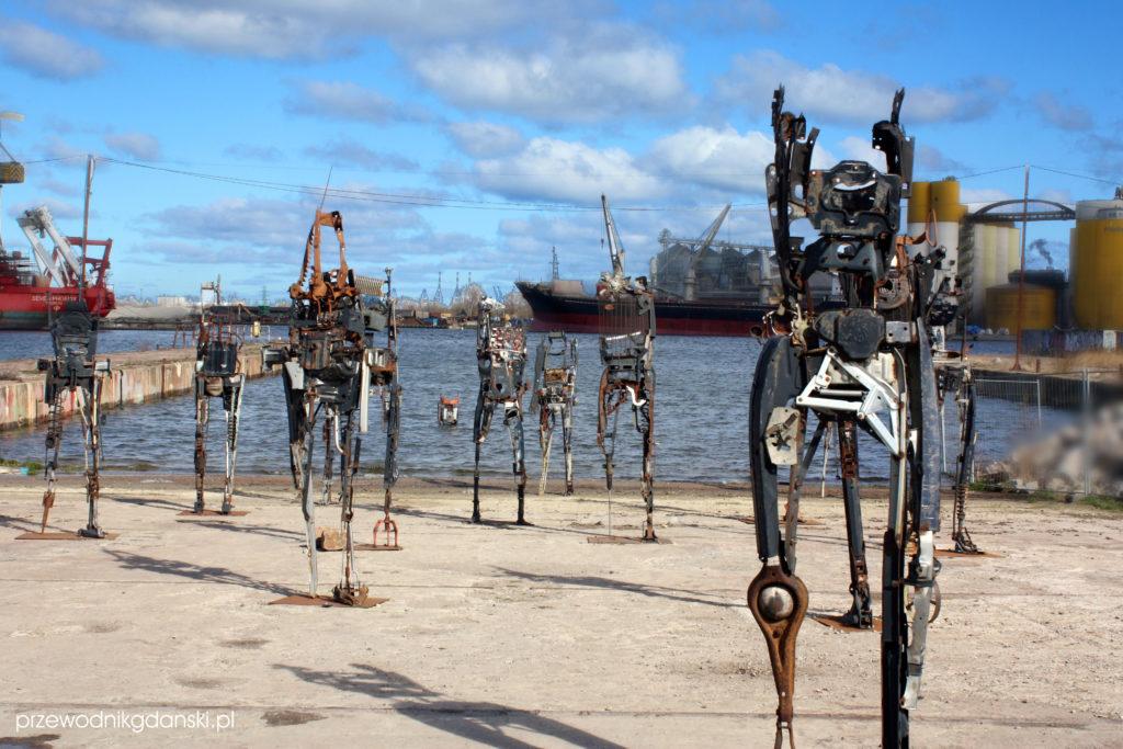 Roboty-rzeźby ze Stoczni Gdańskiej
